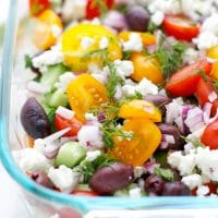 Mediterranean seven layer dip hummus easy party recipe light
