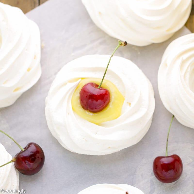 meringue-nests-lime-curd-cherries-meringue-pies
