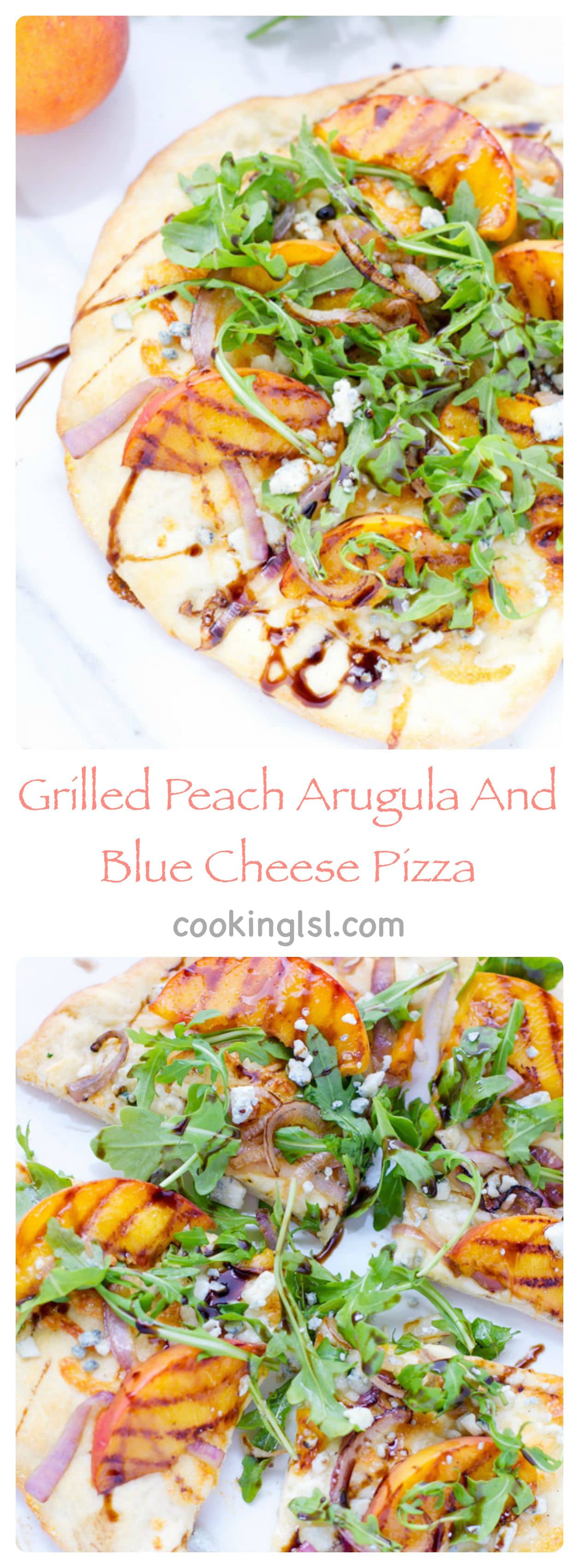 grilled-peach-arugula-blue-cheese-pizza