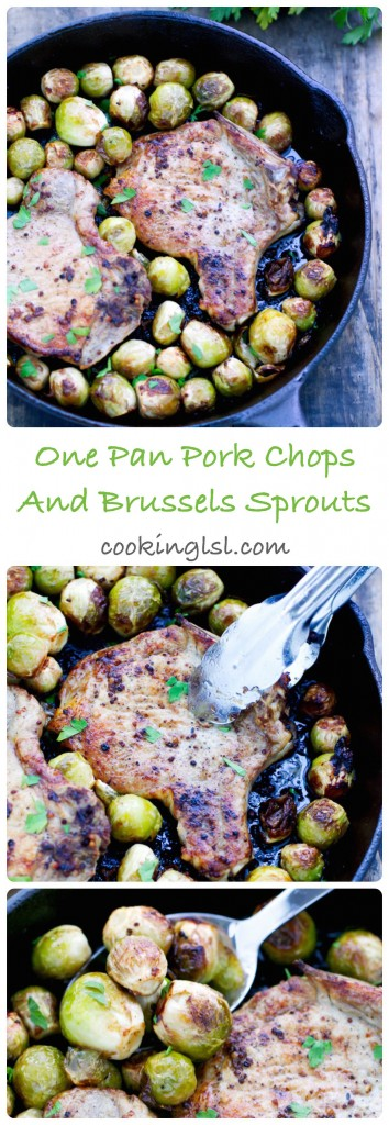 Easy-{One Pan}-Pork-Chops-And-Brussels-Sprouts-recipe