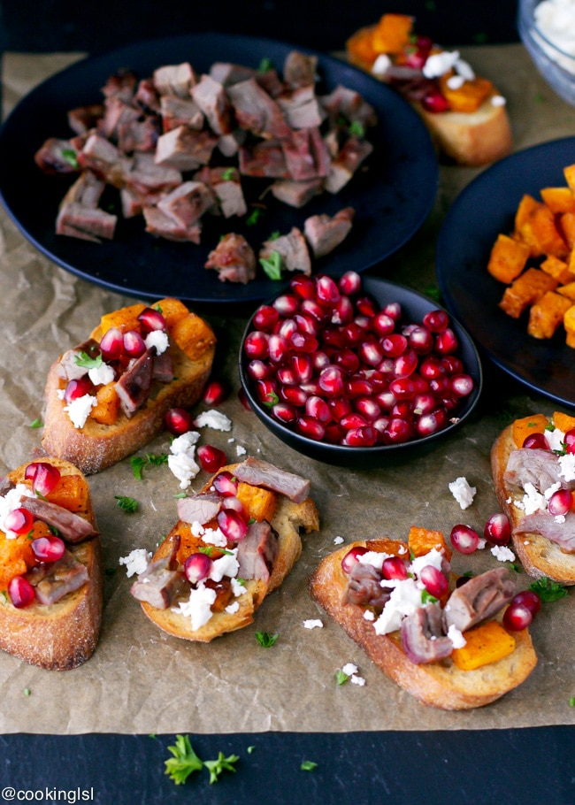 roasted-butternut-squash-steak-pomegranate-crostini-Woodbridge-robert-mondavi