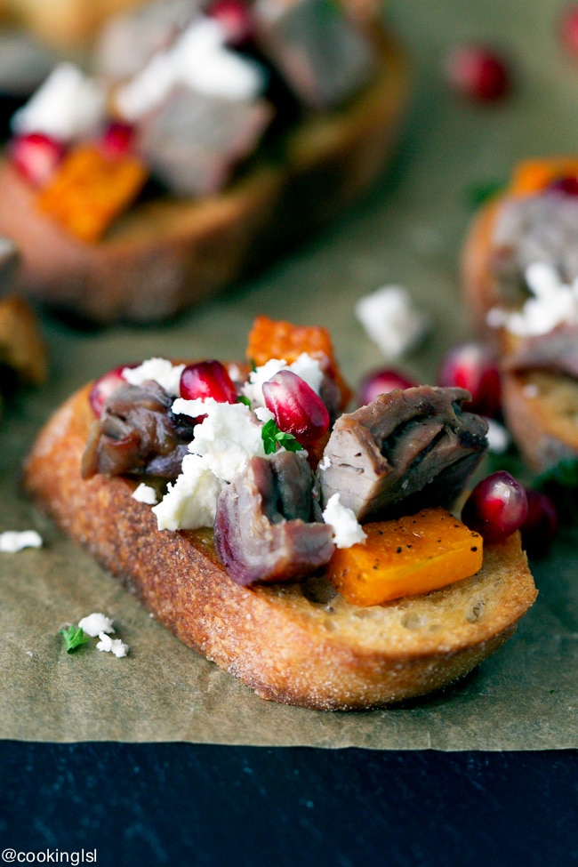 roasted-butternut-squash-steak-pomegranate-crostini-Woodbridge-robert-mondavi