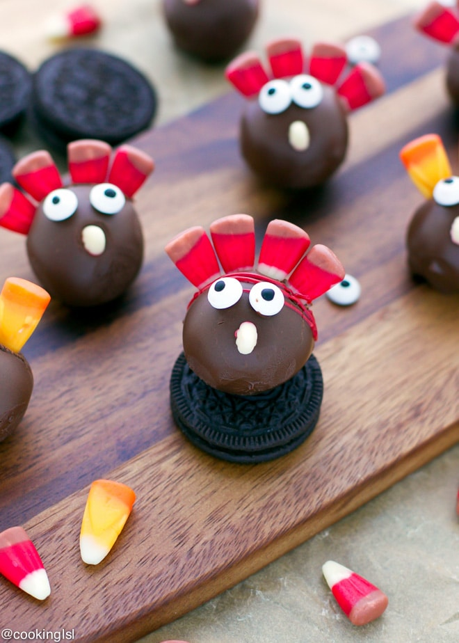 Thanksgiving Turkey OREO Cookie Balls Cool How To Decorate Oreo Balls