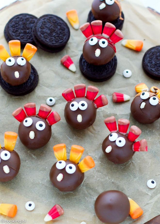 Thanksgiving Turkey OREO Cookie Balls Interesting How To Decorate Oreo Balls