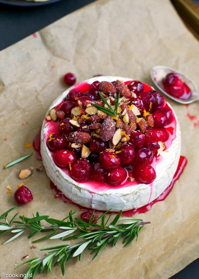 baked-brie-cranberries-almonds-holiday-christmas-appetizer