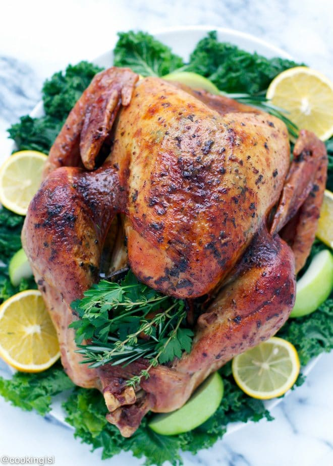 thanksgiving-turkey-with-herb-butter-juicy-easy-dry-brined