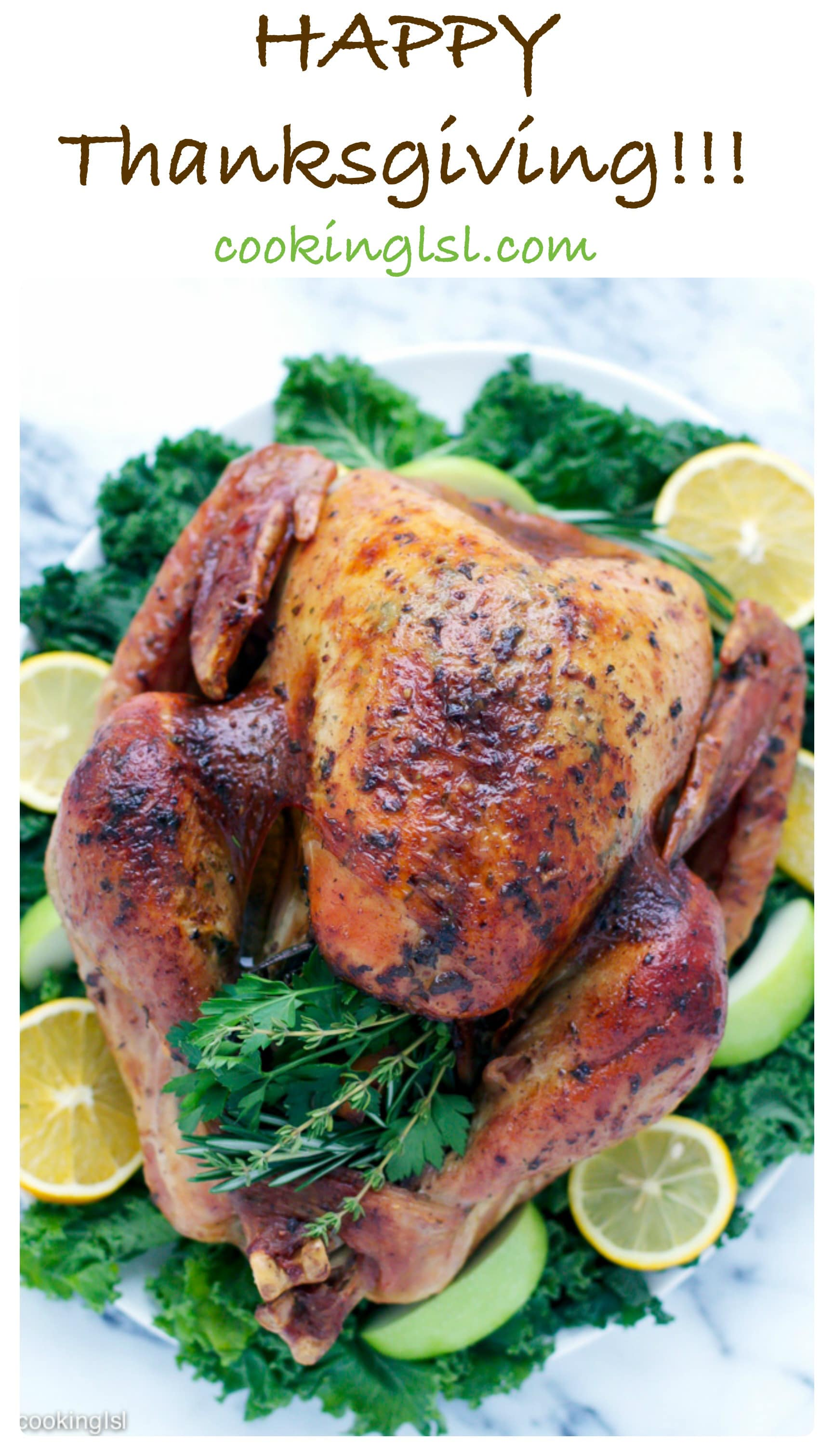 Thanksgiving might be over, but I have not shared my turkey recipe with you yet! This Dry Brined Herb Butter Roasted Turkey is easy to make if you follow my instructions, very flavorful and super juicy.
