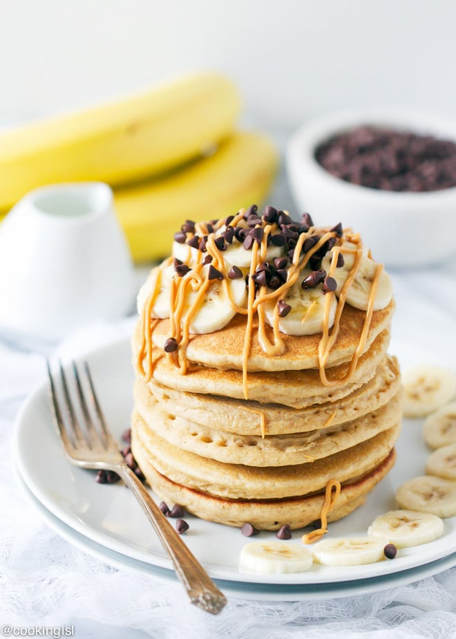Whole Wheat Peanut Butter Pancakes