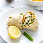 roasted red pepper hummus chicken wrap