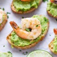 shrimp avocado crostini recipe toast appetizer