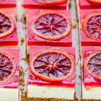 blood orange cheesecake bars squares recipe