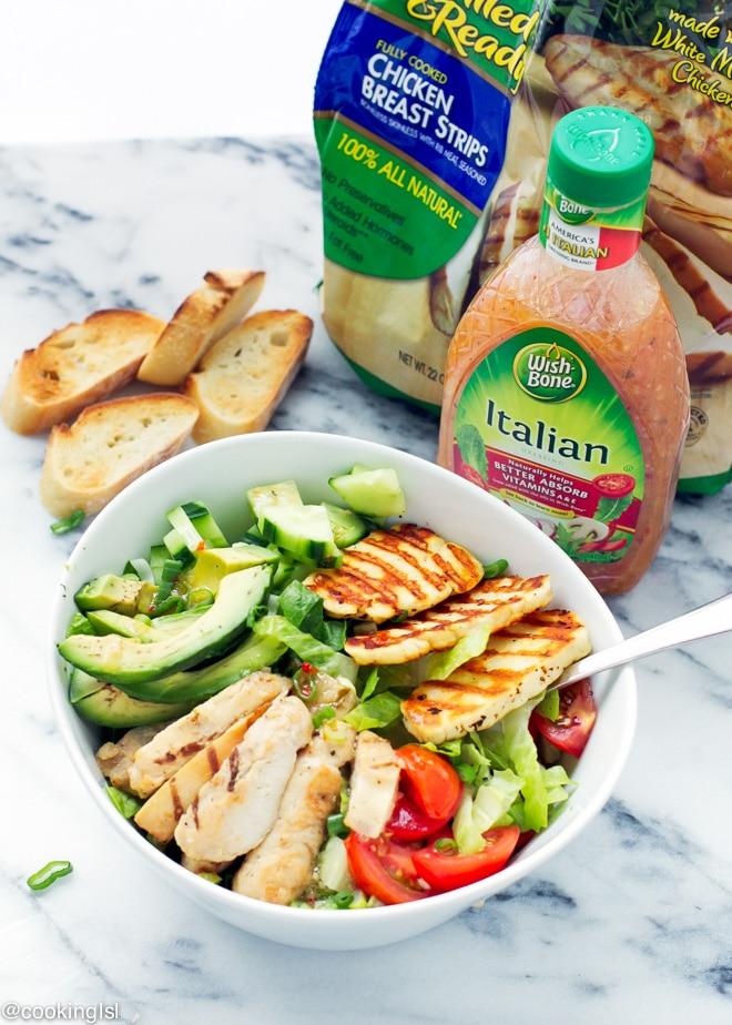 halloumi-and-chicken-salad