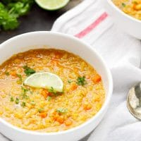 curried red lentil quinoa soup recipe