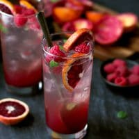 blood orange raspberry mojito recipe