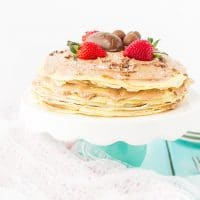 crepe cake butterfinger eggs chocolate cream cheese whipped cream
