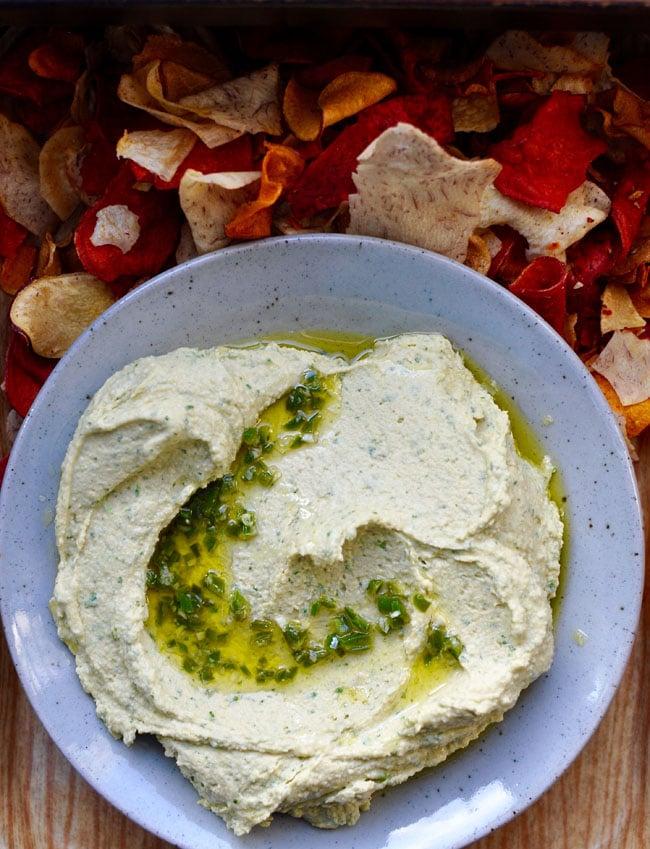 Cilantro-Jalapeño-Hummus