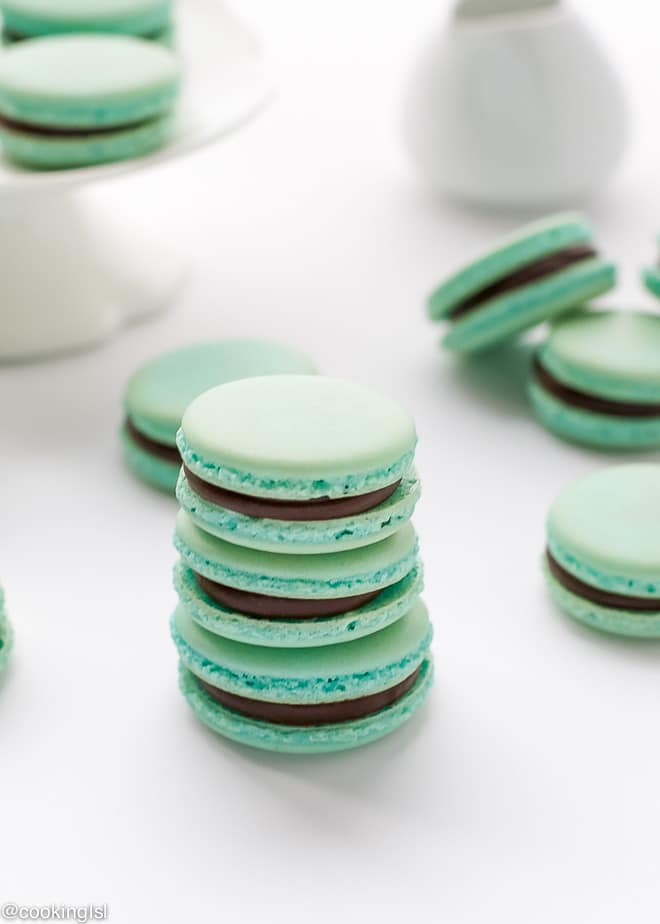 baby-blue-french-macarons-rich-chocolate-ganache-recipe
