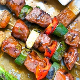 tender beef kebabs tangy barbecue sauce