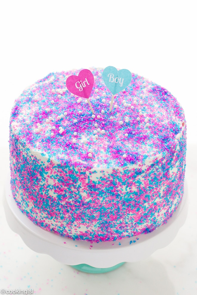 Gender Reveal Surprise Cake Recipe Cooking Lsl