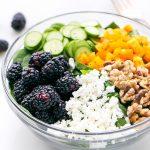 Blackberry Spinach Salad With Light Balsamic VinaigretteRecipe