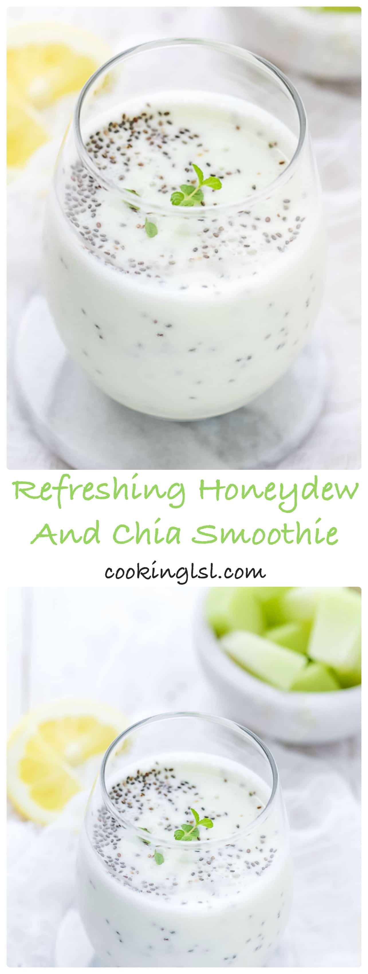 Healthy and Delicious Summer Favorite Refreshing Honeydew And Chia Smoothie