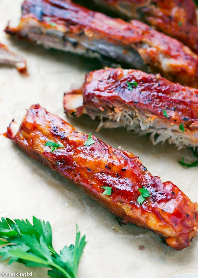 These Oven Baked St Louis Style Ribs are one of my favorite family dinners. They are so easy to make, too!