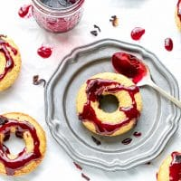 Almond Meal Donuts With Hibiscus Glaze Recipe