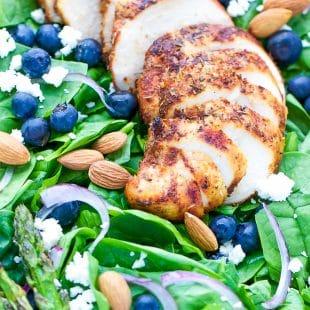 Blackened Chicken Spinach Salad