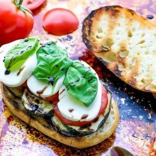 Grilled Veggie Caprese Sandwich Recipe