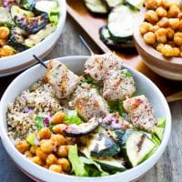 Sumac Chicken Kabobs Quinoa Bowls Recipe