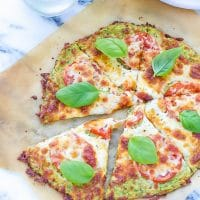 Zucchini Pizza Crust Recipe ON PARCHMENT PAPER