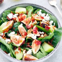 Spinach Prosciutto Honeydew Fig Salad Recipe
