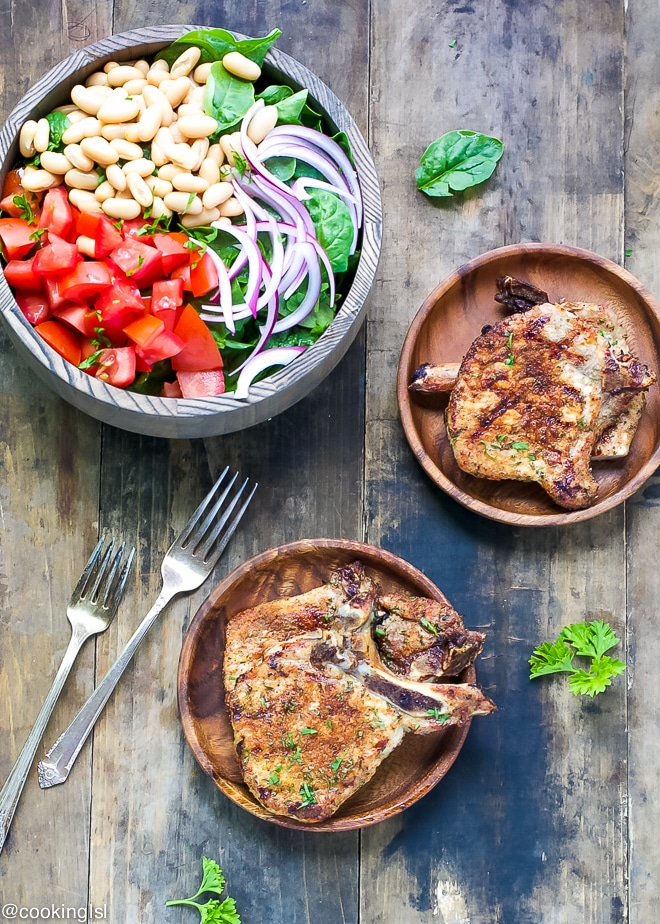 Dry Rubbed Grilled Pork Chops