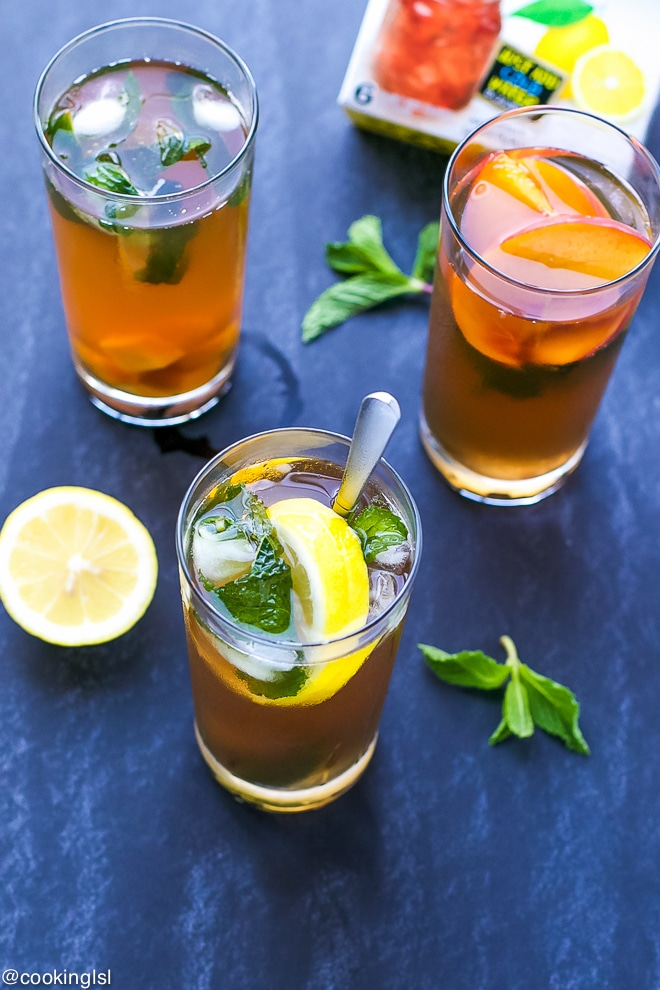 Cold-Brewed-Iced-Tea-Lemonade-With-Mint-Ice-Cubes