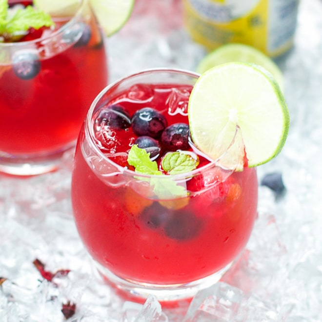 Berry Hibiscus Iced Tea Lemonade Refresher