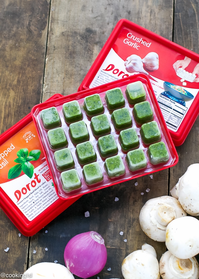 Garlic-Basil-Mushrooms-Recipe-With-Dorot-Herbs