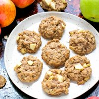 Easy Chewy Apple Oatmeal Cookies Recipe