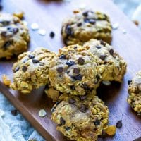 Pumpkin Chocolate Chip Oatmeal Raisin Cookies Recipe