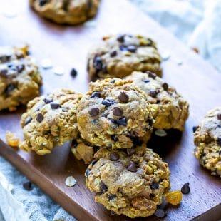 Pumpkin-Chocolate-Chip-Oatmeal-Raisin-Cookies-Recipe