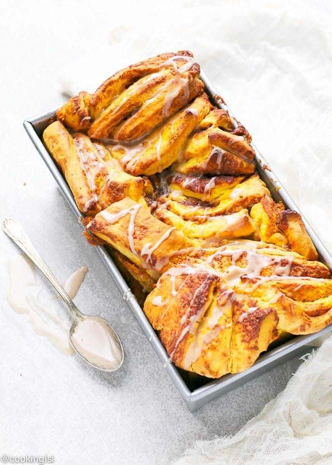 Pumpkin Pull Apart Yeast Bread Recipe