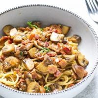 Balsamic Mushroom Bacon Pasta Recipe