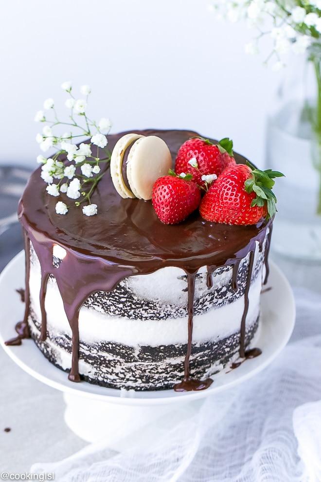No Eggs No Milk No Butter Chocolate Layer Cake Recipe Cooking Lsl