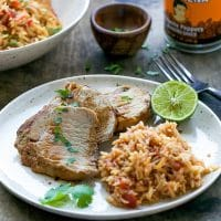 Chipotle Pork Tenderloin And Mexican Rice Recipe