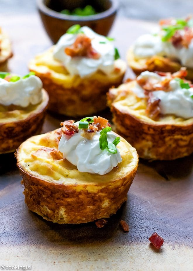 Muffin Tin Potato And Bacon Cups Recipe
