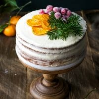Tangerine Layer Cake With Tangerine Curd And Cream Cheese Frosting Recipe