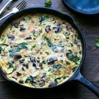 Easy Ham Spinach Zucchini And Mushroom Frittata Recipe