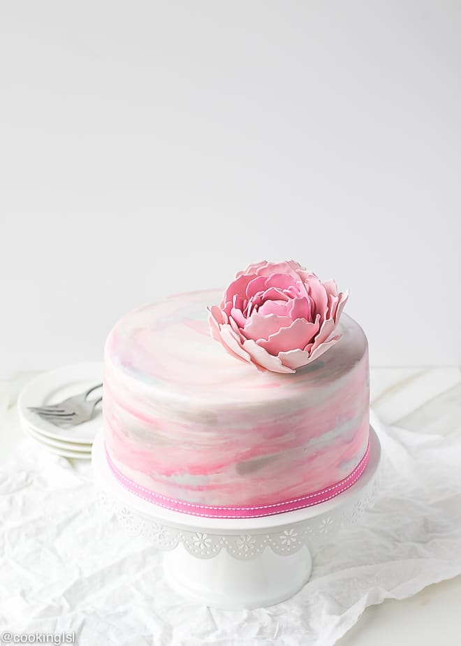 Watercolor Fondant Cake Cooking Lsl