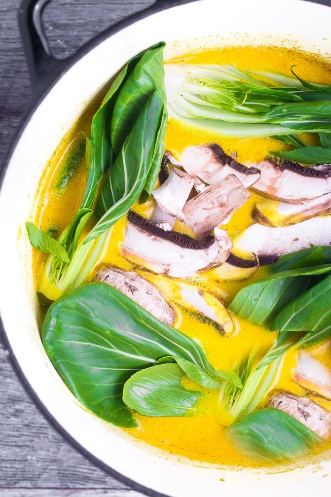 Radiant Bok Choy Soup Turmeric