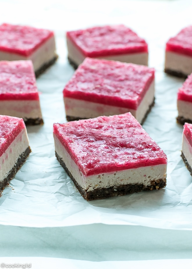Raw Blood Orange Cheesecake Bars {Vegan And Gluten Free}