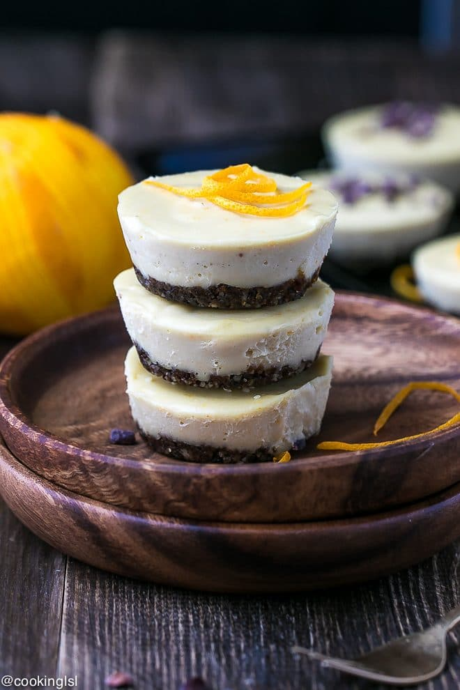 Raw Orange Creamsicle Cheesecake Cups {Vegan And Gluten Free}